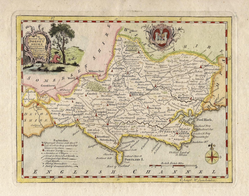 'An Accurate Map of DORSET SHIRE...' by Thomas Kitchin c.1786 (Ex Boswell Atlas)