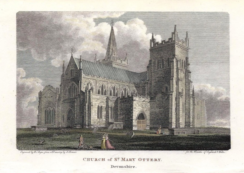 'CHURCH of ST. MARY OTTERY. Devonshire.'  by J. Bonner / W. Angus c.1810