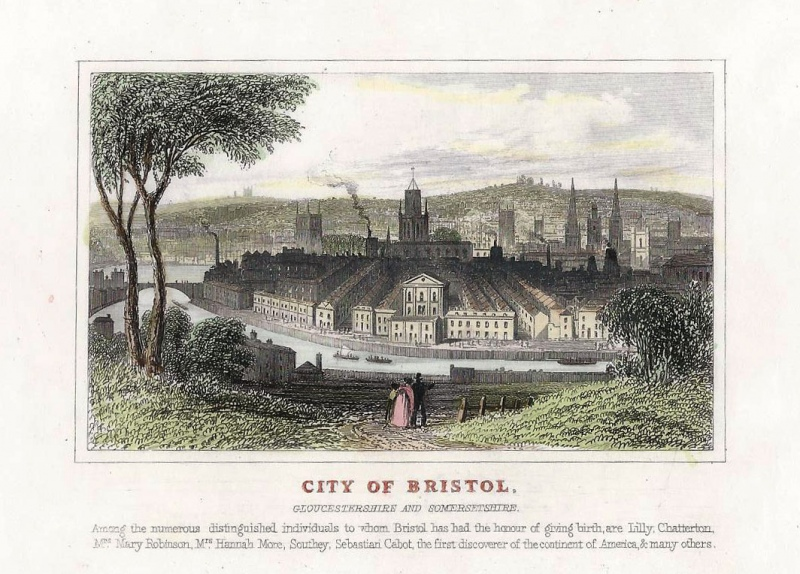 'CITY OF BRISTOL GLOUCESTERSHIRE AND SOMERSETSHIRE.' by T. Dugdale c.1835-1860