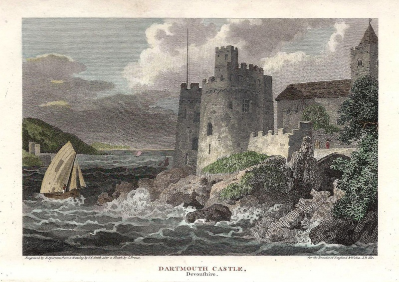 'DARTMOUTH CASTLE Devonshire.' by S. Prout / J. C. Smith / S. Sparrow c.1810