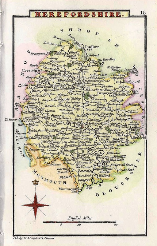 'HEREFORDSHIRE' by Leigh / Hall c.1835