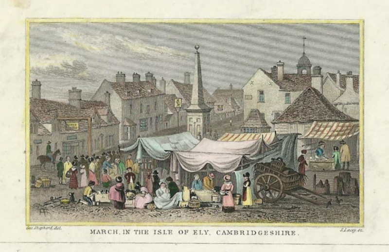 'MARCH IN THE ISLE OF ELY CAMBRIDGESHIRE' by Geo. Shepherd / S. Lacey c1850