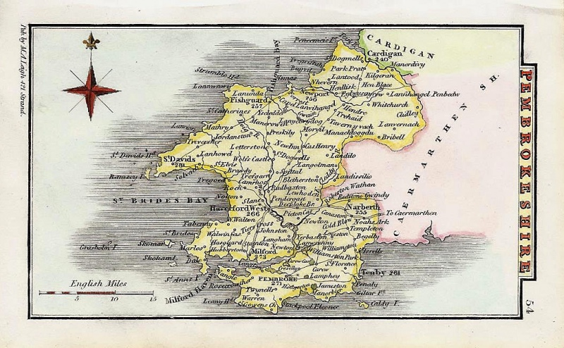 'PEMBROKESHIRE' by Leigh / Hall c.1835