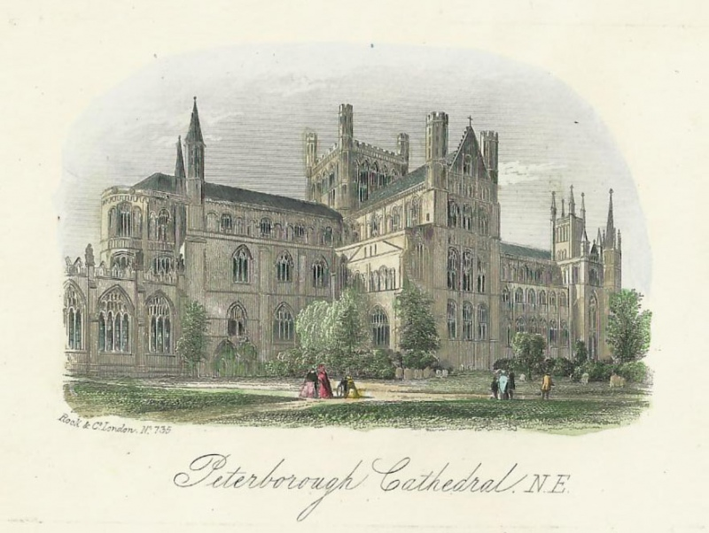 'Peterborough Cathedral N. E.' by Rock & Co. c.1850s