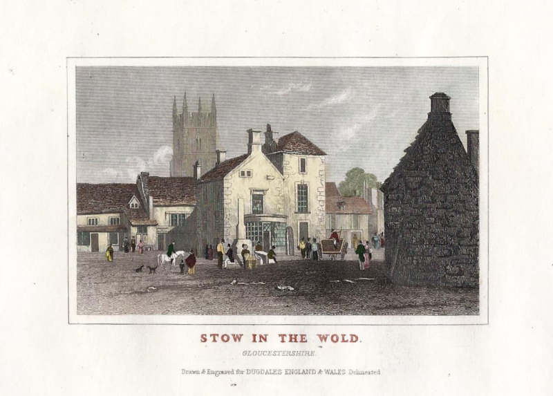 'STOW IN THE WOLD.' (Stow-on-the-Wold) by Thomas Dugdale c.1835-1860