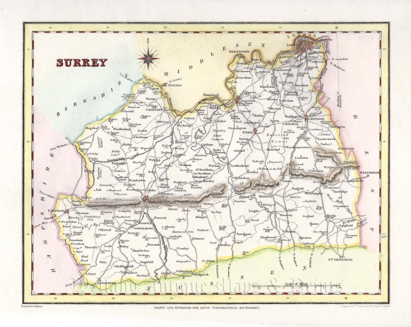 'SURREY' by R. Creighton / T. Starling / S. Lewis c.1831