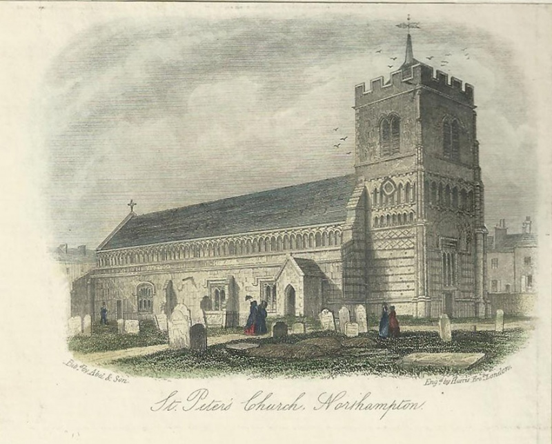 'St. Peters Church Northampton' by Harris Brothers / Abel & Son c.1850s