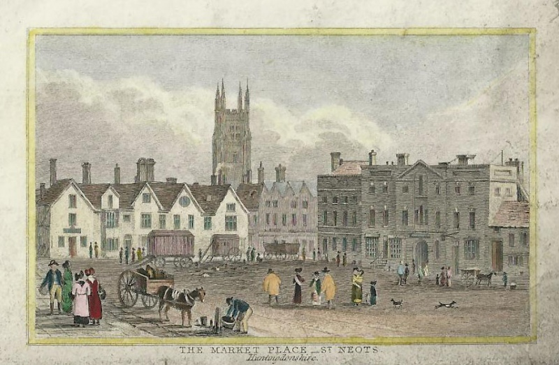 'THE MARKET PLACE_ST. NEOTS. Huntingdonshire' (Unsigned) c.1850