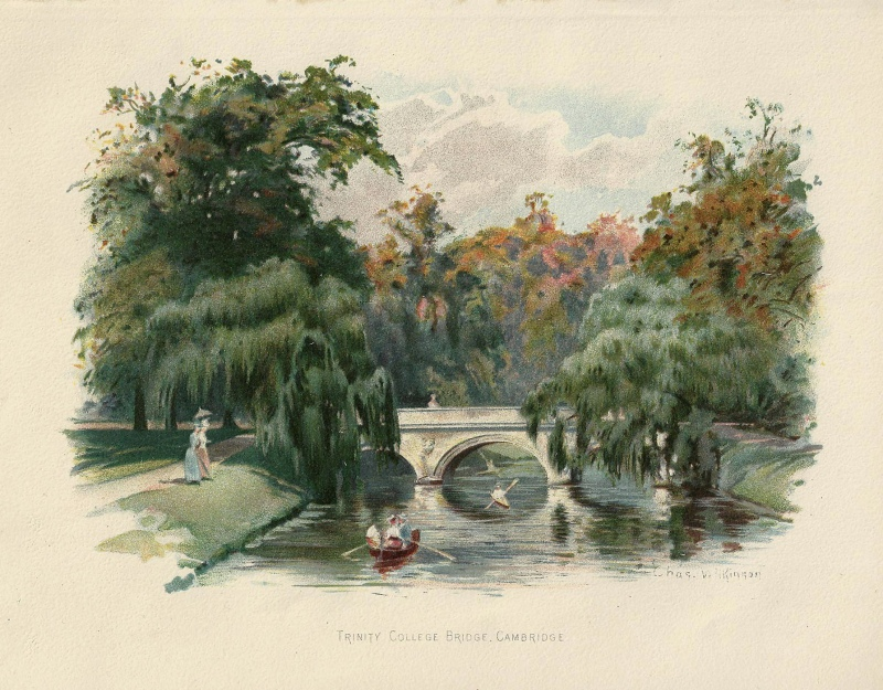'TRINITY COLLEGE BRIDGE CAMBRIDGE' by Charles Wilkinson c.1895