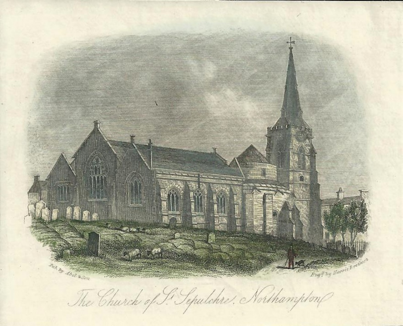 'The Church of St. Sepulchre Northampton' by Harris Brothers / Abel & Son c.1850s