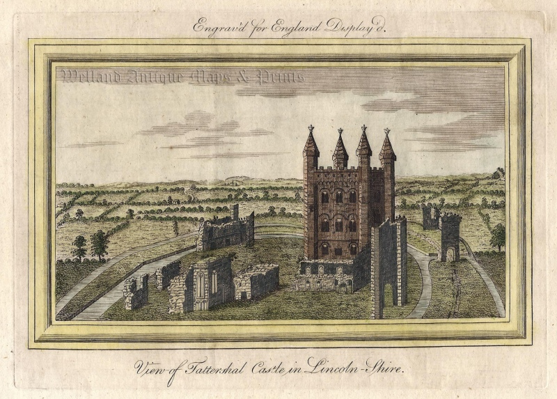 'View of Tattershall Castle in Lincoln Shire.' from 'England Displayed' c.1769