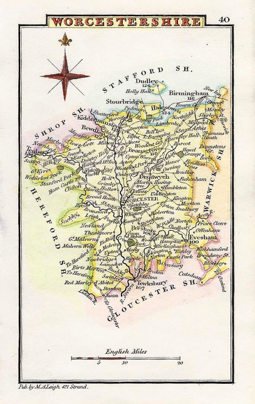 'WORCESTERSHIRE' by Leigh / Hall c.1835