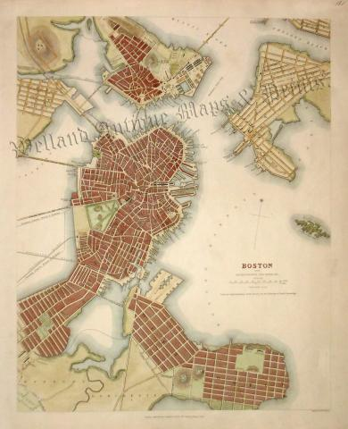 BOSTON WITH CHARLESTOWN AND ROXBURY.\' by the S. D. U. K. c.1842 ...