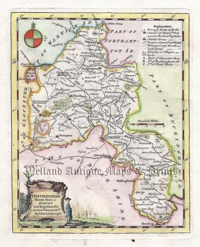 Oxfordshire Drawn From A Survey By Thomas Kitchin C 1749 Ex