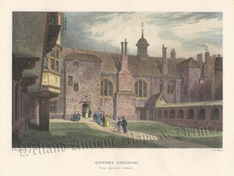 QUEENS COLLEGE, THE SECOND COURT.' (Cambridge) by F. Mackenzie / J on