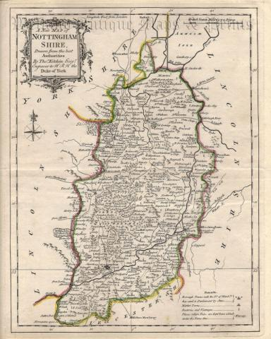 Map Of Uk Nottingham.A New Map Of Nottingham Shire Drawn From The Best Authorities By